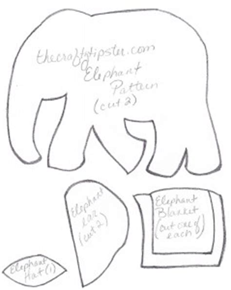 Felt Elephant Pattern The Crafty Tipster