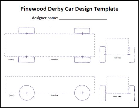 bsa pinewood derby templates pinewood derby car templates template business
