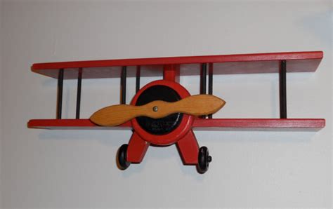 wooden airplane wall hanger curio shelf by dutchscraftshop