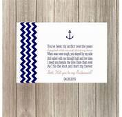 DIY Printable Chevron Anchor/Nautical Will You Be My