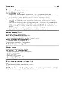 Resume Sle Electrical Engineer by Electrical Engineering Resume Template Free Best