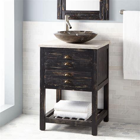 Reclaimed Bathroom Vanity 24 Quot Benoist Reclaimed Wood Vessel Sink Vanity Antique Pine Bathroom Vanities Bathroom