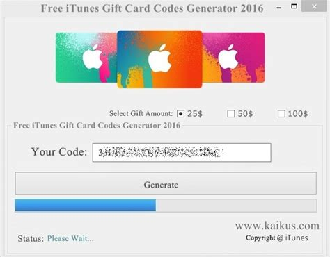 Free Itunes Gift Card Code Generator Download - free itunes gift card codes that work 2017 no survey