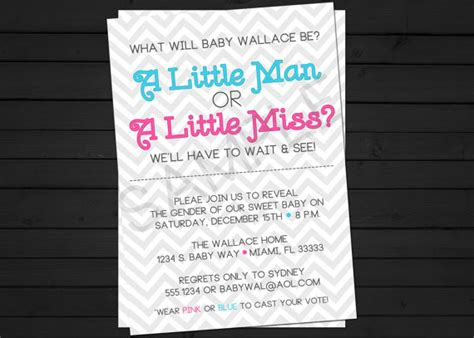 gender reveal invitation template gender reveal invitations template best template collection