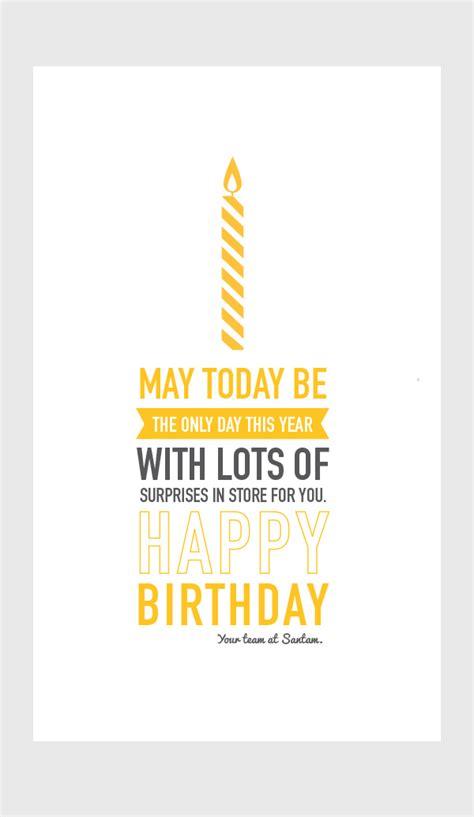 Company Birthday Cards Corporate Birthday Card Typography On Behance