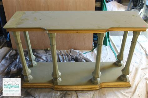 ugly green ugly alert avocado green console table to restoration