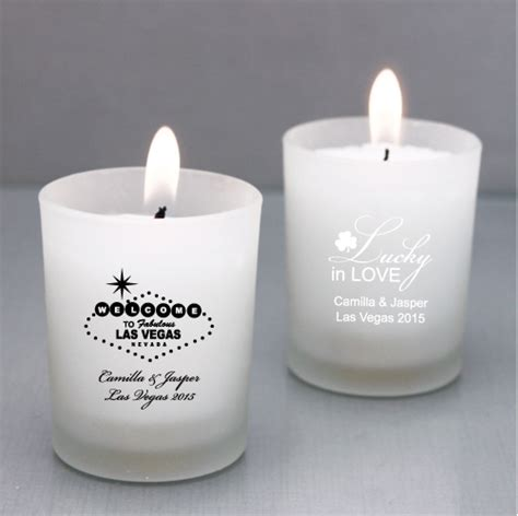 personalized candle holders wedding favors personalized las vegas candle holder las vegas wedding