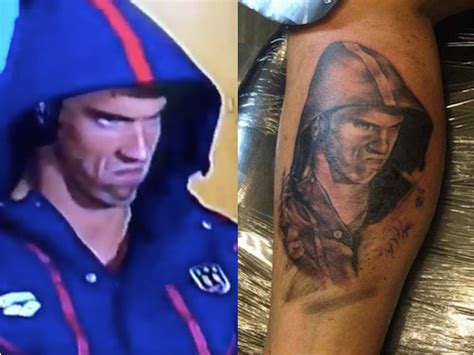 game face tattoos t o artist gives a michael phelps phelps responds
