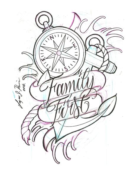 family first tattoo designs family design by lazaro j rivera sketch