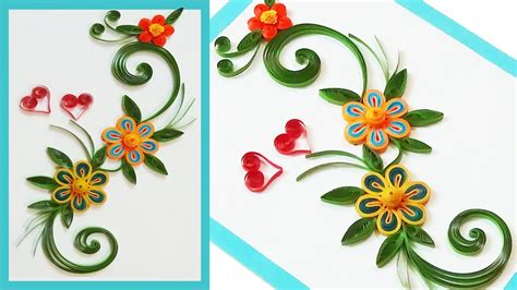 paper quilling greeting card tutorial paper quilling greeting cards for beginners