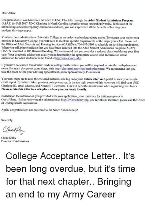 Reading College Acceptance Letter 25 Best Memes About Unc Unc Memes