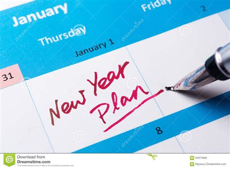 new year plan stock image image of script reminder