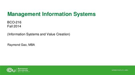 Management Information System Ppt For Mba by 2 Value Chain Porter S 5 Forces