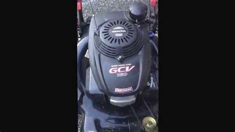 craftsman mower honda engine issue youtube