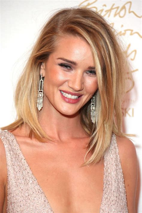 rosie huntington side parted lob rosie huntington whiteley s hairstyles over the years