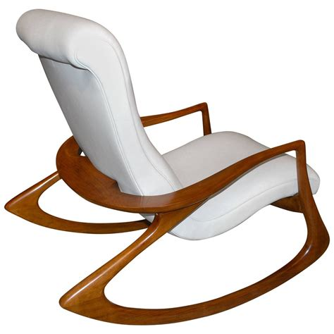 rocking sofa chair vladimir kagan quot contour quot chair in leather for sale at 1stdibs
