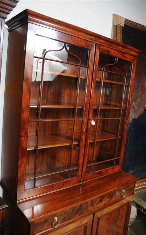 Glass Fronted Bookcases by Regency Mahogany Bookcase Glass Fronted Display Cabinet