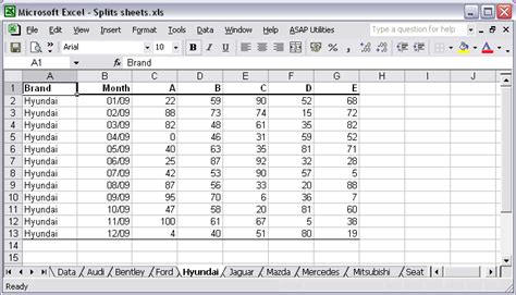Asap Utilities For Excel Blog 187 How To Split Data Table Into Multiple Worksheets And Save Time Mls Data Sheet Template