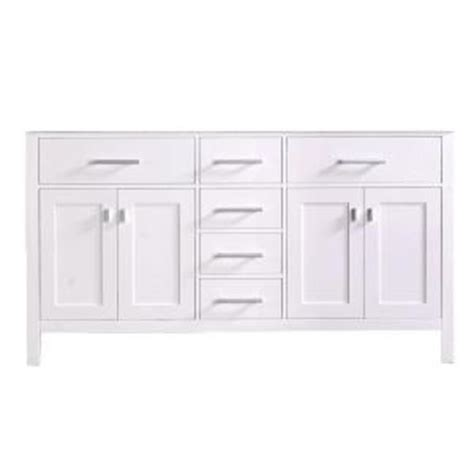 design elements vanity home depot design element 60 5 in w x 21 5 in d vanity cabinet only in white dec076a w cb the