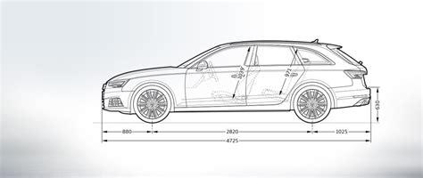 Audi A4 Avant Abmessungen by Audi A4 Avant Abmessungen Infos Audi 214 Sterreich