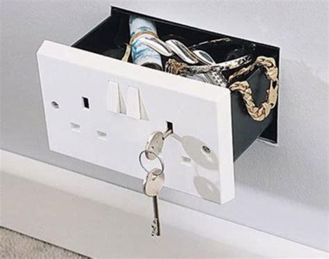 cool wall receptacle secret wall socket stash safe drawer stashvault
