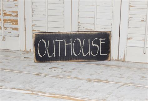 bathroom decor signs primitive bathroom sign country home decor outhouse sign