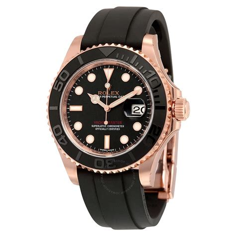 yacht master rolex yacht master automatic black dial 18kt everose gold