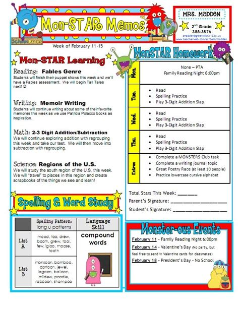 17 best ideas about weekly classroom newsletter on