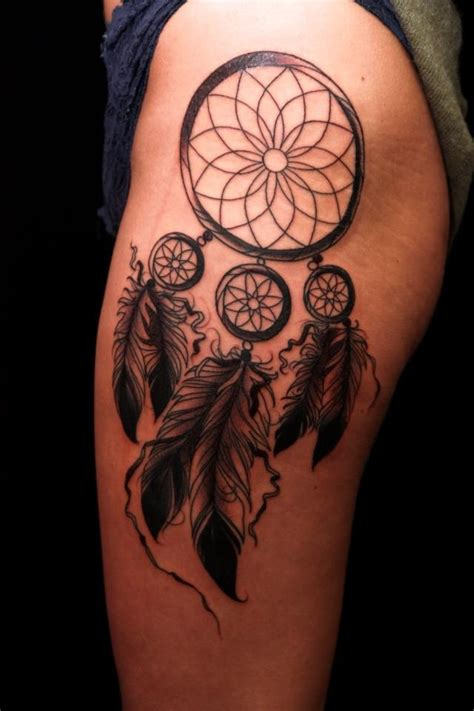 dreamcatcher tattoo little dream catcher tattoo getting one on my upper thigh or