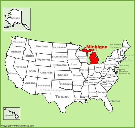 america map michigan michigan location on the u s map