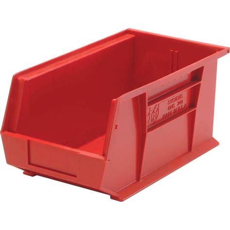 Plastic Shelf Bins by Storage Concepts 11 In W X 10 7 8 In D X 5 In H