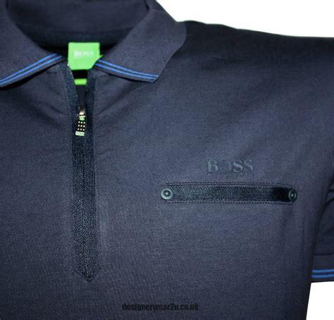 Polo Zipper hugo philix navy half zipper polo shirt polo shirts from designerwear2u uk