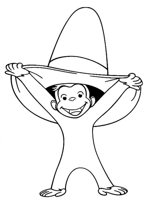 curious george coloring pages birthday books curious george az coloring pages