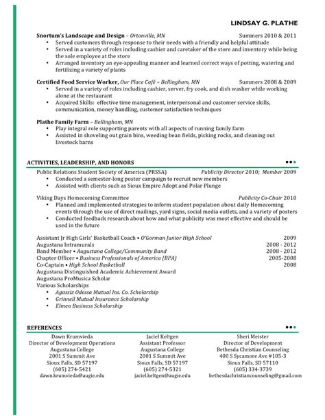 cosmetology resumes exles exles of resumes