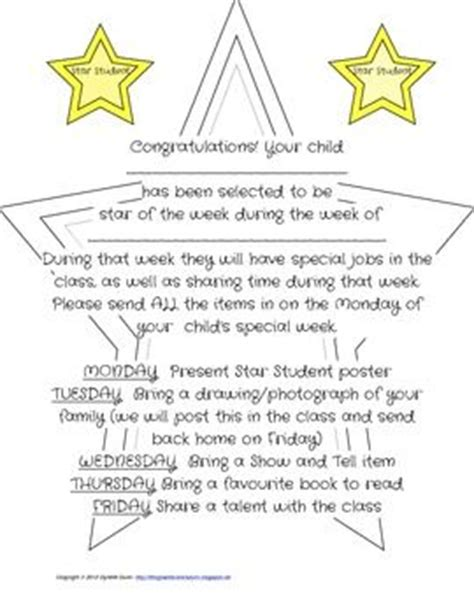 Parent Letter Of The Week Students And Student On