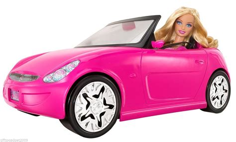 barbie cars from the barbie glam auto convertible car with barbie doll 2010 new
