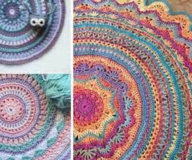 rug pattern diy crochet mandala rug artistic patterns the whoot