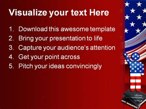 Government Regulations America Powerpoint Template 0610 America Powerpoint Template