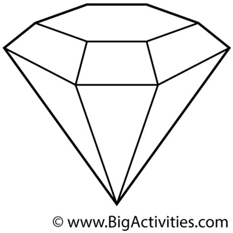 cool pages that are of diamonds coloring pages
