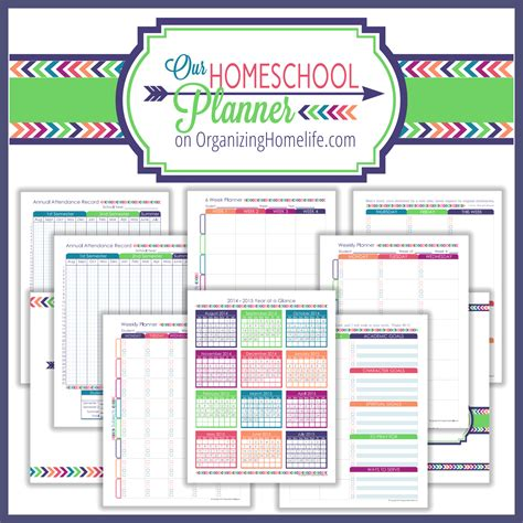 printable homeschool planner pages back to school printable bundle a bowl full of lemons