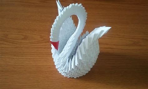 How To Make A 3d Swan Origami - 3d origami white swan