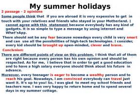 Essay About Summer Holidays by 3 Paragraph Essay About Summer
