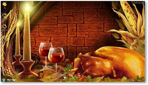 thanksgiving themed pictures windows 7 thanksgiving theme holiday themes
