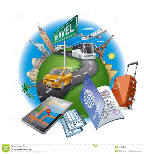 clipart viaggi world travel concept stock vector image 46685245