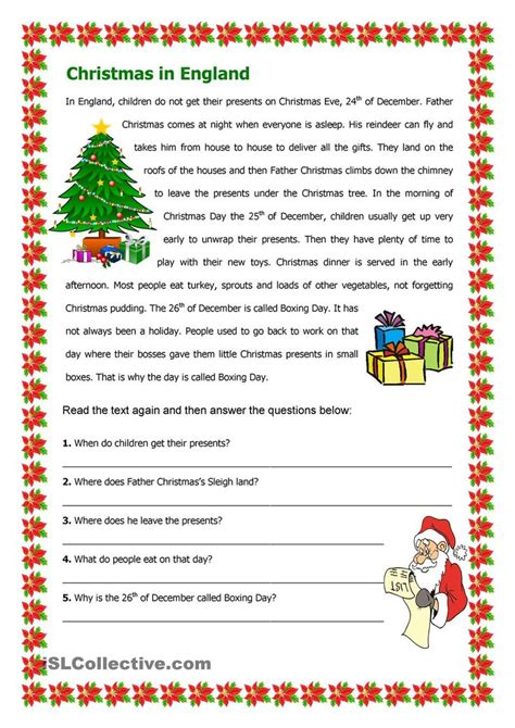 printable christmas english worksheets 28 best christmas images on pinterest education english