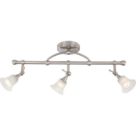 Fixed Track Lighting Fixtures Glomar 26 75 In Brushed Nickel Fixed Track Lighting Bar With Directional Heads Hd 4154 The