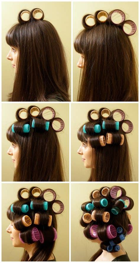 how to section hair for hot rollers 25 best roller set ideas on pinterest