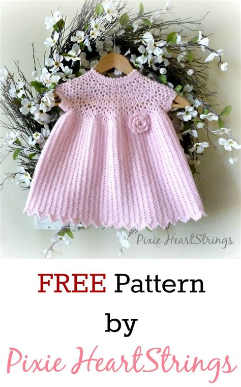 knitted dress patterns for toddlers free crochet baby dress patter