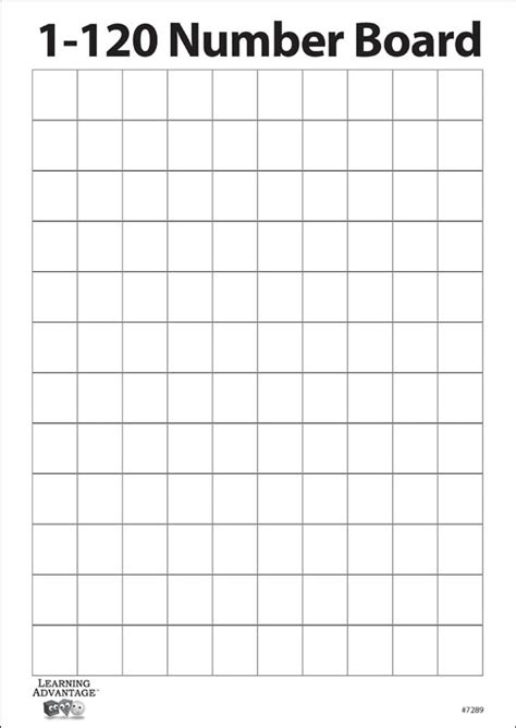 free printable blank hundreds chart to 120 1 120 number two sided dry erase board with blank grid