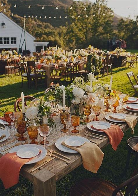 fall backyard wedding 47 enchanting fall garden wedding ideas happywedd com